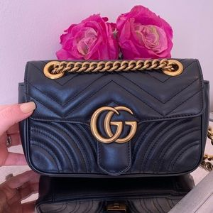 GUCCI GG Marmont Matelasse Mini Leather Bag